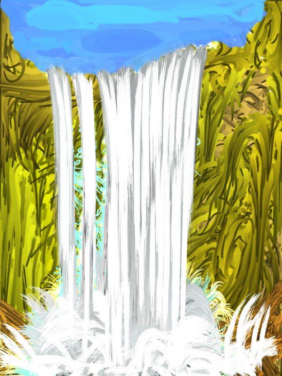Chegem waterfall I