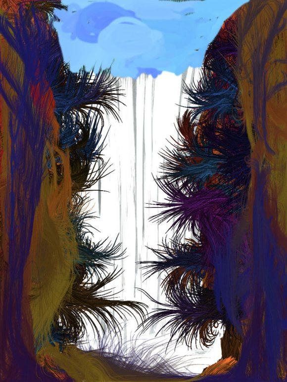 Chegem waterfall II